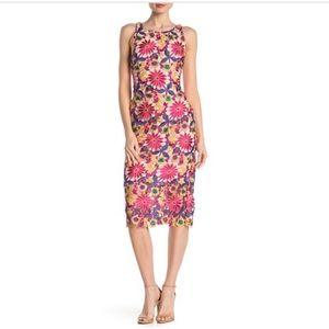 Alexia Admour Floral Crochet Lace Midi Dress